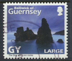 Guernsey SG 1328 Used Dog and Lion Rock 2010 SC# 1077a See scan