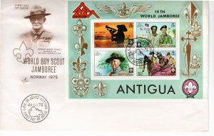 Antigua 1975 Sc 386a MNH Souvenir Sheet Perforate