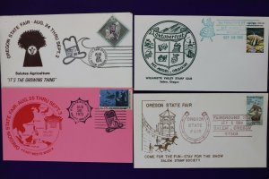 Oregon state fair philatelic souvenir cover 1973+ Oktoberfest Salem stamp club