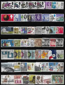 Great Britain 56 diff. stamps - good starter mini collection  --  12365
