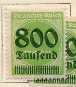Germany 1923 Early Issue Fine Mint Hinged 800T. Surcharged 235392