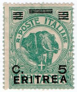 (I.B) Italy (Eritrea) Postal : 5c on 2c Overprint