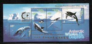 Australian Antarctic Territory 1995 Singapore overprint L97b