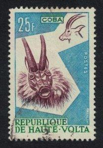 Upper Volta Antelope Animal Mask 25f 1960 MNH SG#80