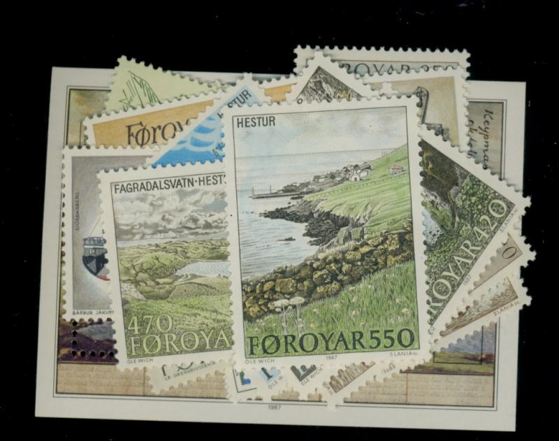 Faroe Islands #152-55,158-60,161-8,197-200 MINT FVF OG NH Cat$40
