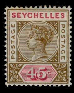 SEYCHELLES SG25, 45c brown and carmine, M MINT. Cat £25.