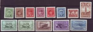J18587 JLstamps Canada WWII 1942-3 set mh #249-42 nice with battle, no #253 ship