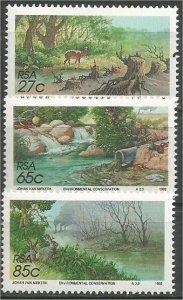 SOUTH AFRICA, 1992, MNH set, Conservation Scott 816-818