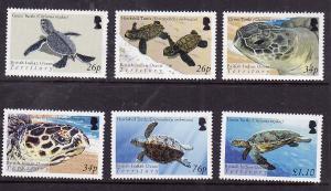 BIOT-Sc#290-5-unused NH set-Marine Life-Turtles-2005-