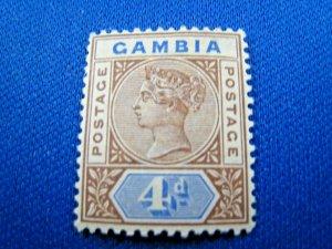 GAMBIA  1898  -  SCOTT # 25  -  MH      (Hg1)