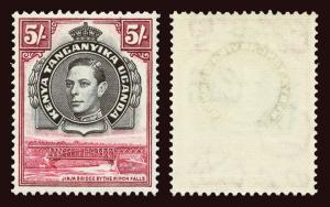 KENYA, UGANDA and TANGANYIKA Scott #83 (SG148b) 1944 KGVI mint NH