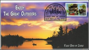 20-107, 2020, Enjoy the Great Outdoors, Pictorial Postmark, First Day Cover, Can