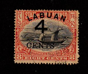 Labuan - 1899 - SC 89 - Used - Regular Issue - Surcharged