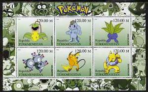 TURKMENISTAN SHEET POKEMON
