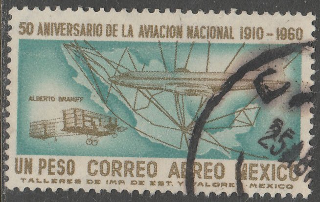 MEXICO C248 50th Anniversary of Mexican Aviation. Used. VF. (130)