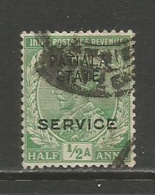 India-Patiala  #O30  Used  (1913)
