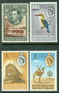 BECHUANALAND : 1938-61. Stanley Gibbons #128, 175, 80-81 Key Values. VF, Mint NH