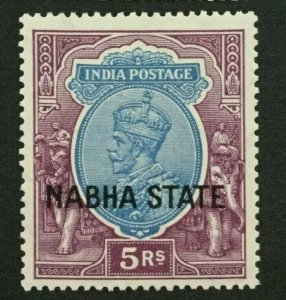 MOMEN: INDIA NABHA SG #72 MINT OG H LOT #193898-2398