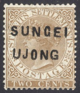 Malaya Sungei Ujong 1881 2c Brown WmkCC SG 8 Scott 14var LMM/MLH Cat £375($528)