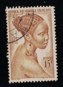 French Equatorial Africa  #182  used   SCV  $.75