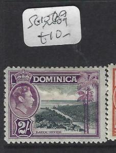DOMINICA  (PP2802B)  KGVI  2/-  SG 107  MOG