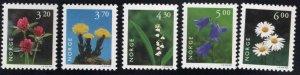 Norway Scott 1148-1152 MNH**  Flower set