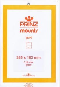 Prinz SCOTT Stamp Mount 163 / 265 BLACK Background Pack of 5