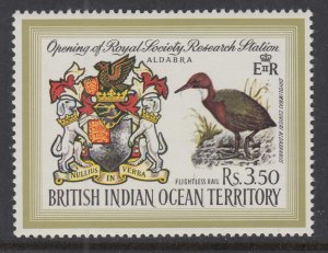 British Indian Ocean Territory 43 Coat of Arms Bird MNH VF