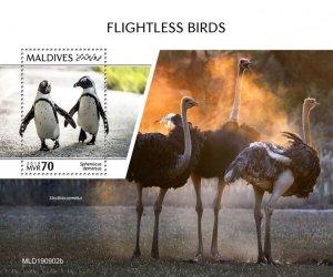 MALDIVES - 2019 - Flightless Birds - Perf Souv Sheet - MNH