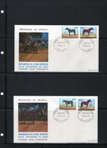 Senegal 1971 F.D.C. Horses Set (4) Sc # 338-341