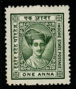 INDIA-INDORE SG18 1927 1a GREEN MTD MINT
