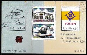 Aland 1993 Scott 72 Autonomus Postal Admins MNH.