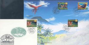 UNITED NATIONS 1998 RAIN FOREST TRIPLE CANCEL FIRST DAY COVER AS SHOWN