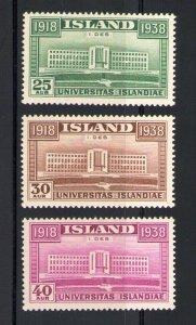 1938 Iceland, Island, 20° Ann. Management Province, N° 168-170, MNH