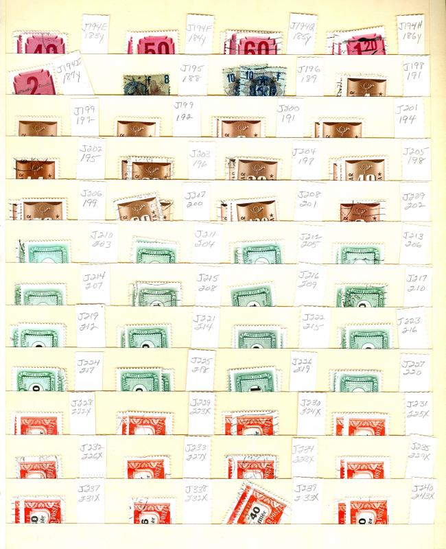 Magyar Post, Cat 2148 - P11, 575+ Stamps on Manila Stock Cards, ID # E38