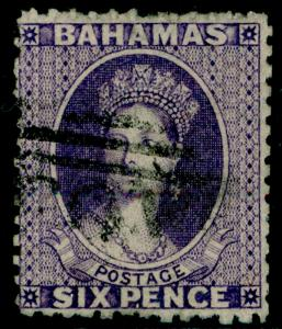 BAHAMAS SG31, 6d deep violet, used. Cat £60.
