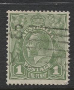 Australia - Scott 114 - KGV Head -1931 - FU - Wmk 228 - 1p Stamp7