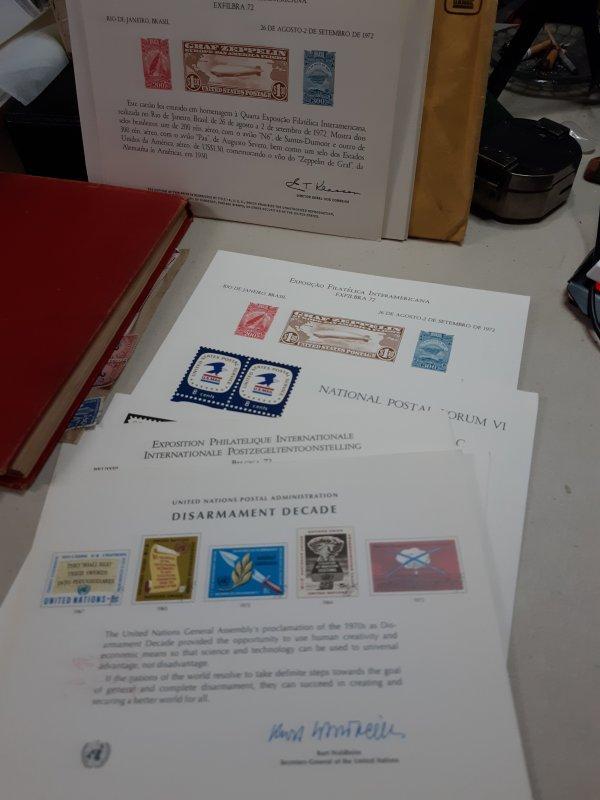u.s.p.s exposicao filatelica interamericana 1972, flyers