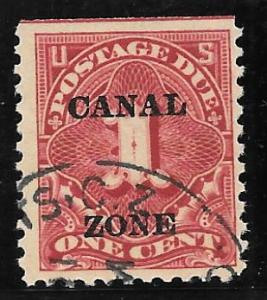 Canal Zone Scott #J12 Used 1c Postage Due O/P 2016 CV $27.50