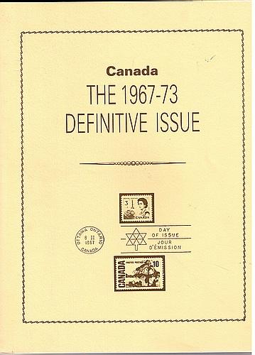 Book -  Canada the 1967-73 Definative issue