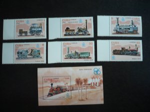 Stamps - Cuba - Scott# 2863-2869 - MNH Set of 6 stamps and 1 Souvenir Sheet