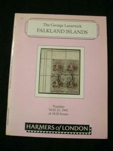 HARMERS AUCTION CATALOGUE 1991 FALKLAND ISLANDS 'GEORGE LAZARNICK'