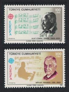 Turkey Europa CEPT Music Year 2v 1985 MNH SG#2890-2891 MI#2706-2707