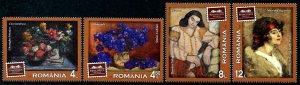 HERRICKSTAMP NEW ISSUES ROMANIA Sc.# 6094-97 Pinacotheque Municipality Paintings