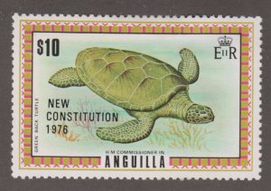 Anguilla 237 Green-back Turtle O/P 1976