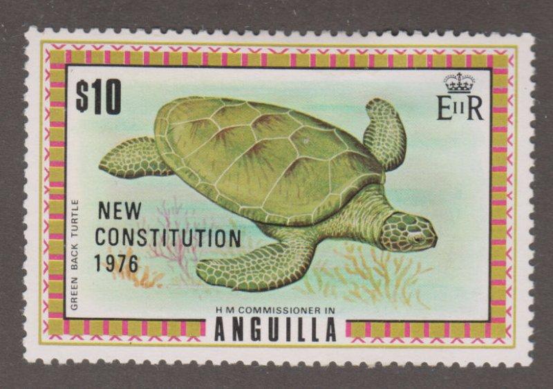 Anguilla 237 Green-back Turtle O/P 1976