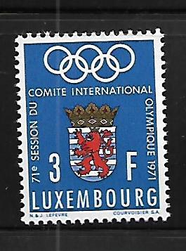 LUXEMBOURG 499 MNH OLYMPIC RINGS