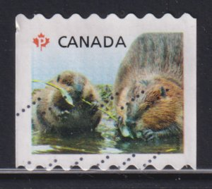 Canada 2711 Baby Wildlife - Definitives, Beavers, Coil 2014