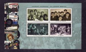 Ireland-Sc#1900a-unused NH sheet-Legendary Showbands-Music-2010-