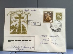 Lithuania 1991 stamps cover R29367